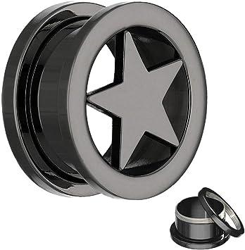 Steel Flesh Tunnel Stahl 6mm Piercing Ohrring Stahl 316 Ohrpiercing Ohrtunnel