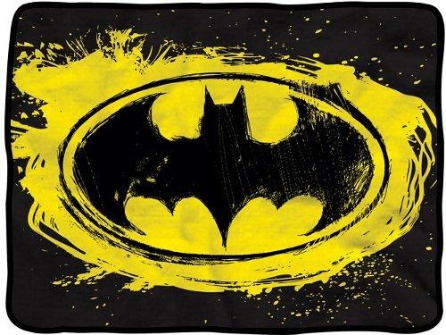 Amazon.com  DC Comics Batman Distressed Logo Fleece Throw Blanket  Home    Kitchen 1fac5be99