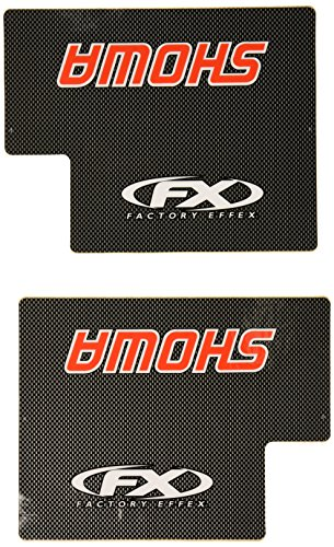Factory Effex (02-7010) Red Upper Fork Shield Graphic - Factory Effex Decals