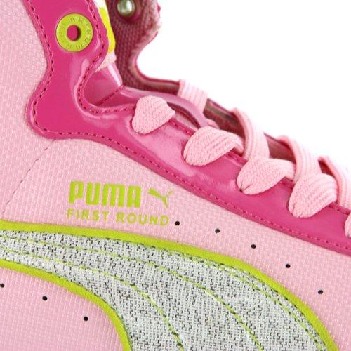Puma JR Sharbat First Round Rosa High Top Mädchen Sneaker