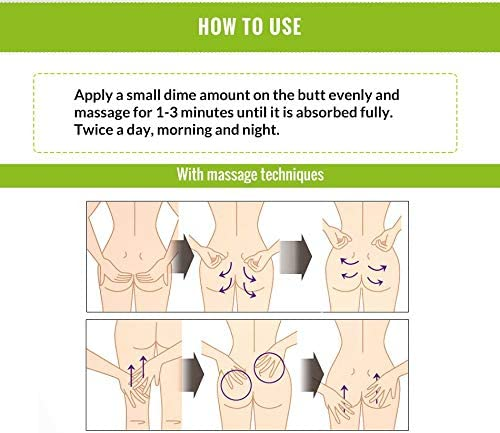 OMY LADY® Butt Enhancement Cream, Crema de aumento de glúteos, masaje para cadera Bigger Crema de aumento de glúteos - Levantamiento & reafirmación ...