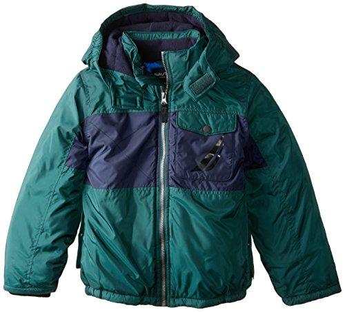 Nautica Boys Color Block Puffer Coat