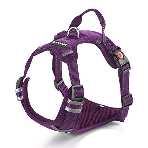 DogJog Dog Harness Reflective Adjustable No Pull Pet Vest Oxford Vest for Dogs Easy Control for Small Medium Large Extra Dogs(M,Purple) by DogJog