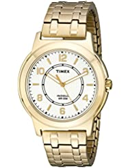 Timex Mens TW2P62000 Bank Street Gold-Tone Stainless Steel Expansion Band Watch