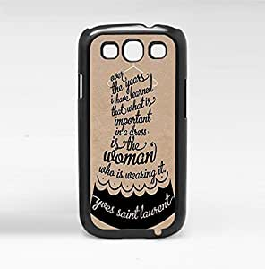 Black and Tan Fashion Icon Style Quote Hard Snap on Phone Case Iphone 5/5S Case Cover