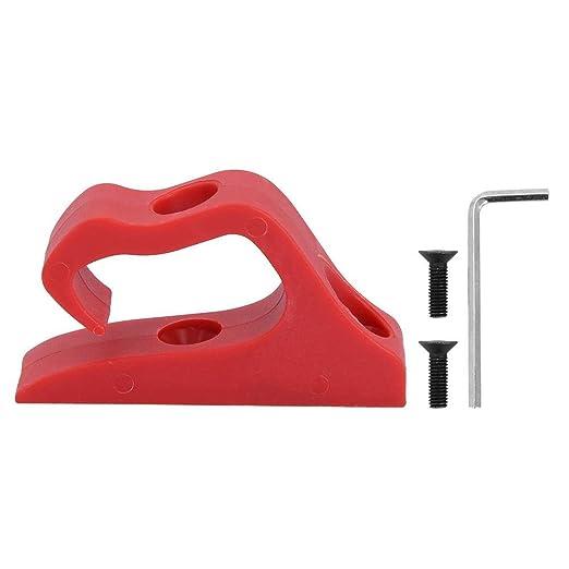 Alinory Conveniente Nylon Bolsa Delantera de Gancho para Colgar el Kit de Gancho para M365 / Pro Scooter eléctrico(Rojo)