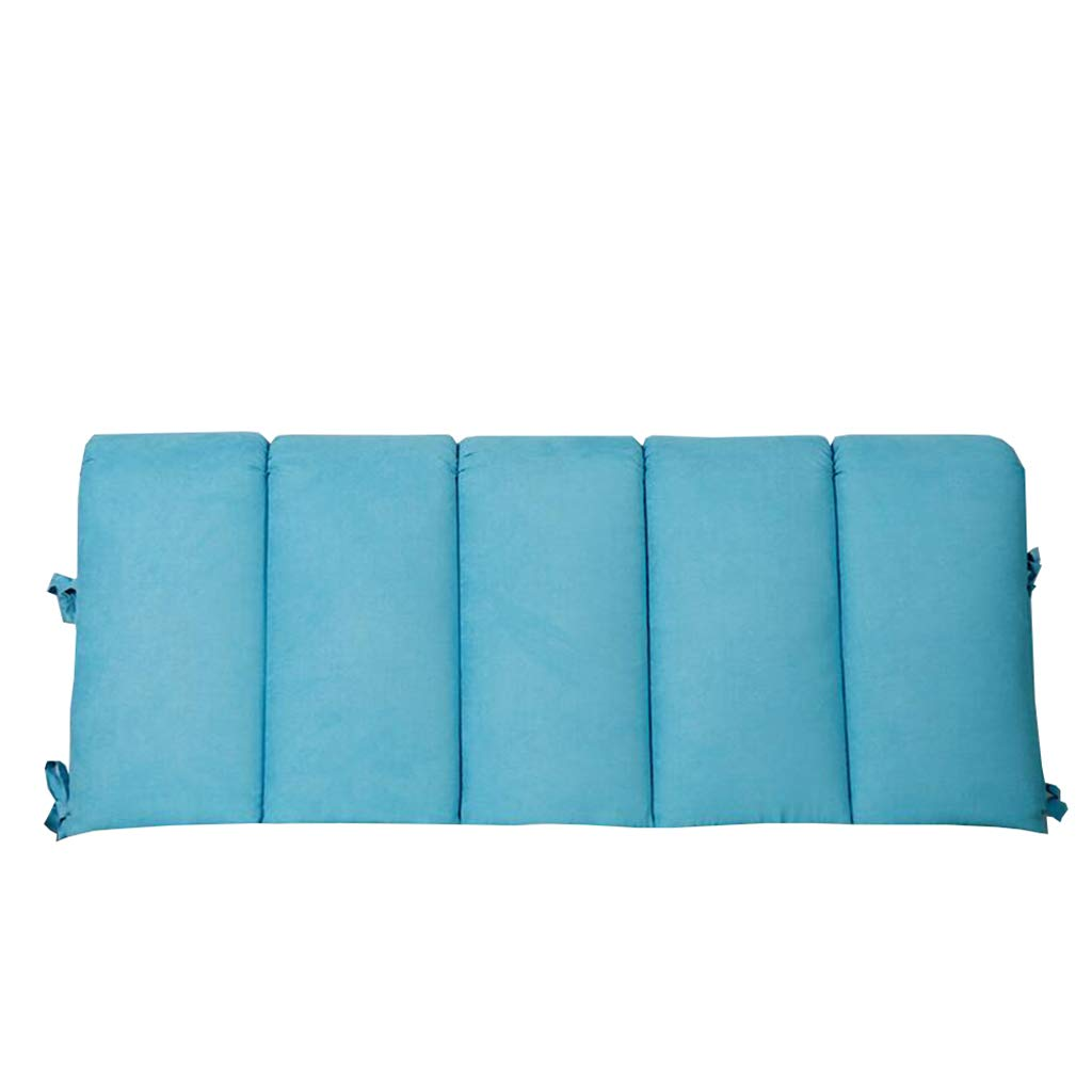 Double Bedside Headboard Pillow/Cushion/for Backrest Soft Case Bed Large Protect The Neck and Back Reading Pillow (Color : Blue, Size : 200×50cm) by K&F-Cushion