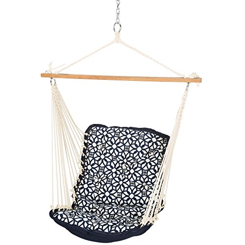 Hatteras Hammocks Sunbrella Tufted Single Swing - Luxe Indigo