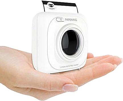 Photo Printer F/ür Smartphone//Computer,Bluetooth//USB Rollen Aufkleberpapier 57 * 30mm 6+1 Rollen Thermopapier N//Z Mini handydrucker fotodrucker Portable T Thermodrucker