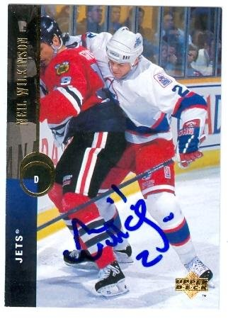 - Neil Wilkinson autographed Hockey Card (Winnipeg Jets) 1995 Upper Deck #392 - Autographed Hockey Cards