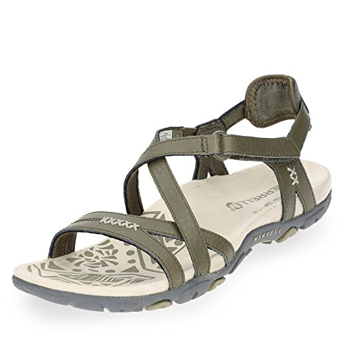 2018 Sandspur olive Sandals Merrell Rose dusty Dusty Olive Women Leather Schuhe TOnP0x
