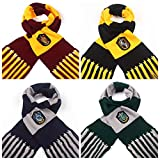 Fashion Warmth Stripes Tassels Scarves From Harry Potter and Hawkworth RedWind