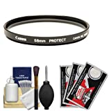 Canon 58mm Screw-in Protection Filter for EF 15mm, 100mm f/2 f/2.8, 18-55mm IS, 75-300mm III, 55-250mm IS, 70-300mm IS, 50mm f/1.4 USM Lenses + Accessory Kit