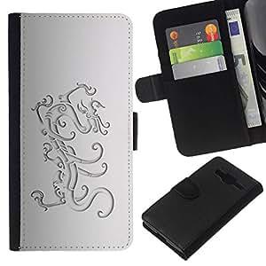 All Phone Most Case / Oferta Especial Cáscara Funda de cuero Monedero Cubierta de proteccion Caso / Wallet Case for Samsung Galaxy Core Prime // Lion Crest