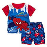 Meteora Boys Hero Spiderman Pajamas Set Summer Kids Nightwear 2-7T (2-3T)