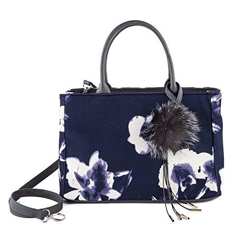 Handtasche, Agnes Blau, stoff
