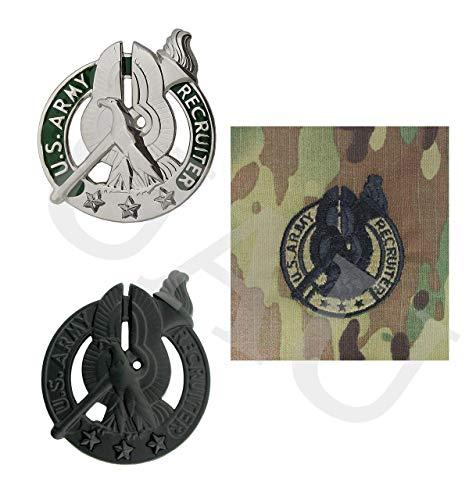 Army Recruiter Badge Bundle (SILVER (BASIC))