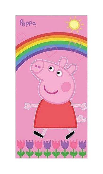TOALLA DE PLAYA PEPPA PIG ARCOIRIS 75 x 150 cm.