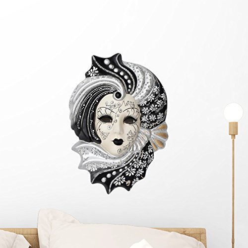 Wallmonkeys FOT-70643685-18 WM325054 Mask Venetian Peel and Stick Wall Decals (18 in W x 17 in H), Small (To Masks Buy Where Masquerade)