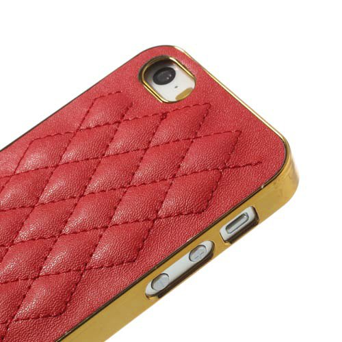 Apple iPhone SE 5 5S Hard Case Rhombus Muster Skin Electroplating Cover Gold Rot