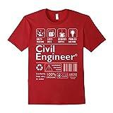 Beer Coffee Problem Solving Civil Engineer Tshirt - Male XL - Cranberry