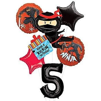 Amazon.com: KREATWOW Ninja Warrior - Globos para fiestas de ...