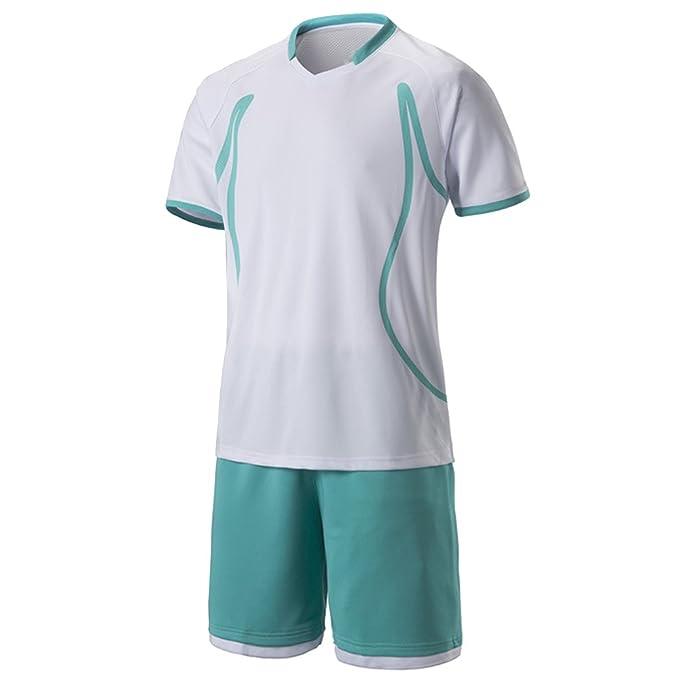KINDOYO fútbol Trajes Ropa de fútbol de Deportivo Camisetas Secado Transpirable Uniformes de Equipo de fútbol de Hombres y Mujeres Personalizados Pareja: ...