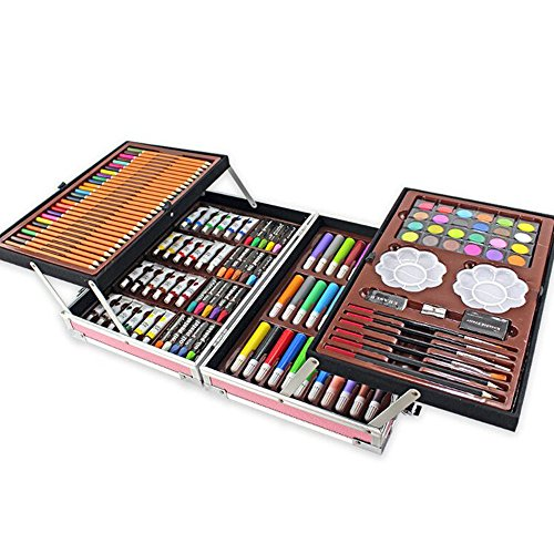 JIANGXIUQIN Artist Art Drawing Set, The Art Collection Creates Watercolor, Color Drawing Tools, and 168 Sets of Luxury Boxes Cover Up, Will Not Hurt Clothing and Skin Gifts for Children and Children. by JIANGXIUQIN (Image #2)