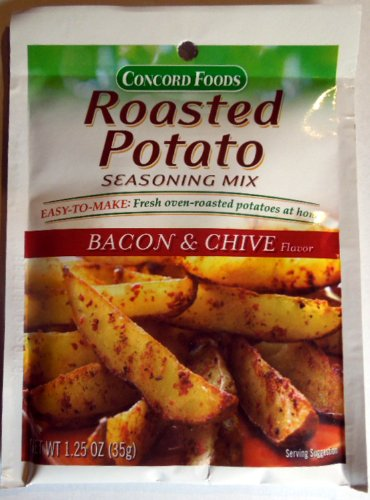 Concord Foods Roasted Potato Seasoning Mix - Bacon & Chive Flavor - 4 of 1.25 oz pkgs