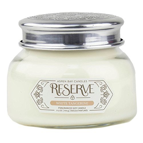 White Tangerine Aspen Bay Reserve Collection 19 Ounce Signature Scented Jar Candle by Aspen Bay Candles