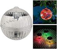Mobestech Bola de Luzes de Piscina Flutuante Solar 2 Pacotes de Mudança de Cor Luzes Movidas a Energia Solar