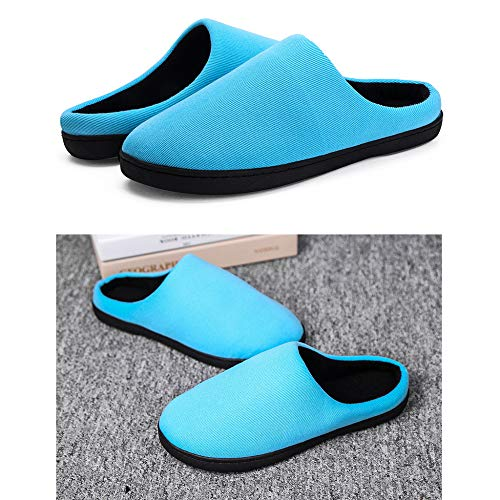 Foam Regbking Memory Leggero Caldo Antiscivolo Plush Unisex Blue Donna Slippers Home Pantofole Da Inverno Soft Scarpe XROqnXrS