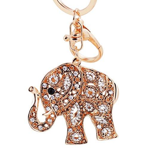 Charm Jewelry Crystal Elephant Animal Keychain Cystal Rhinestone