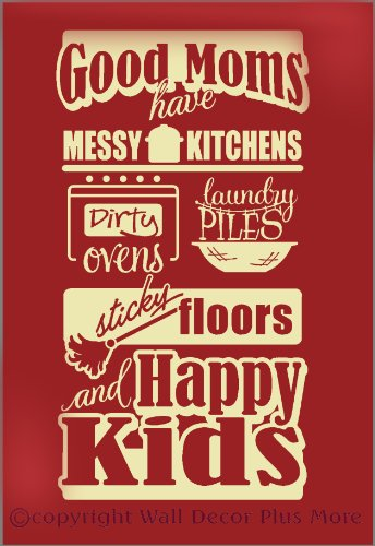 Wall-Decor-Plus-More-WDPM2774-Good-Moms-Happy-Kids-Vinyl-Wall-Decal-Family-Saying-23x12-Beige