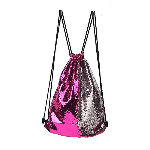 Magic Hiking Dance Bag Bag Panlom® Drawstring Mermaid 1 Backpack Sequins Dance Style Gym Outdoor Drawstring Reversible Glittering Sequin Glitter Shoulder g6v6wFxq