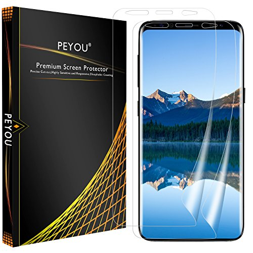 Galaxy S9 Plus Screen Protector, PEYOU [2 Pack] [ Wet Application] [Case Friendly] [Full Coverage] [HD Clear] Screen Protector Film for Samsung Galaxy S9 Plus /S9 +, Easy to Install, Bubble Free