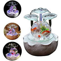 MC.PIG Aquariums Fish Bowls Flowing Water Fountain Decoration Creative Glass Fish Tank Living Room Porch Office Decoration Decoration New Store Opening Gift