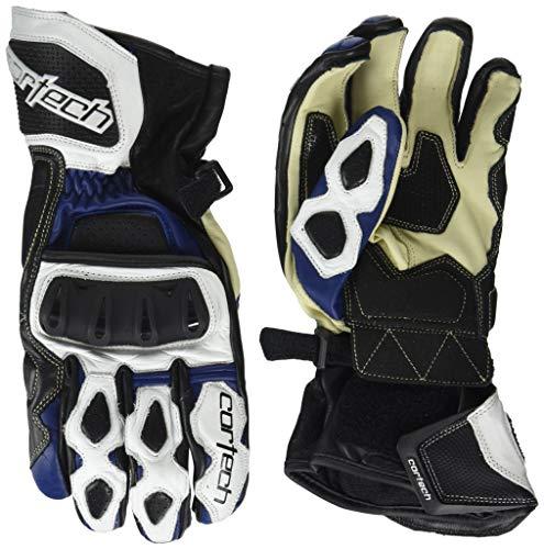 Cortech Men's Latigo 2 RR Glove (White/Blue, Large)