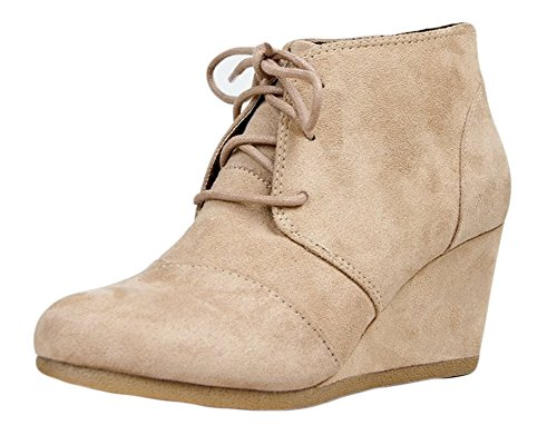City Classified Rex Womens Wedges, Light Taupe, 7.5