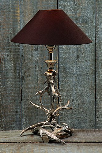 Aluminium, Lampe Geweih H54cm Material