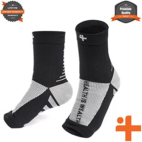 Plantar Fasciitis Relief Compression Socks: Health Is Wealth Anti Fatigue Medical Sock Sleeve for Men and Women - Improves Blood Circulation, Provides Relief for Swelling, Cramps