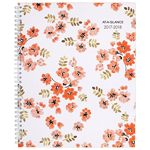"AT-A-GLANCE Academic Weekly / Monthly Planner, July 2017 - June 2018, 8-1/2"" x 11"", Penelope (1021-905A)"
