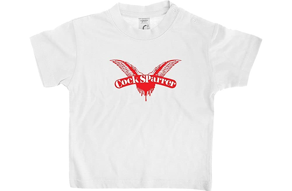 Official Cock Sparrer Red Logo White Baby T-Shirt
