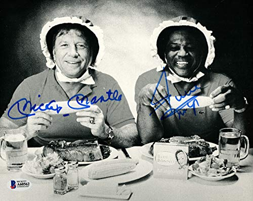 Mickey Mantle & Willie Mays Autographed 8x10 Photo Beckett BAS #A60562 ()