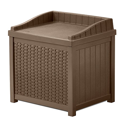 NAKSHOP Outdoor Storage Containers For Deck With Lids Multifunctional Patio Storage Trunk Modern Box Brown Shed Garden Seat Furniture Yard Chest Poolside Cushion Storing Bistro Backyard And eBook By by NAKSHOP