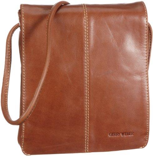 GERRY WEBER Cambridge II Flap Bag S 08/00/01498, Damen Umhängetaschen 18x20x4 cm (B x H x T) Beige (Cognac 780)