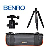 MeFOTO Classic Aluminum Roadtrip Travel Tripod/Monopod Kit - Black (A1350Q1K)