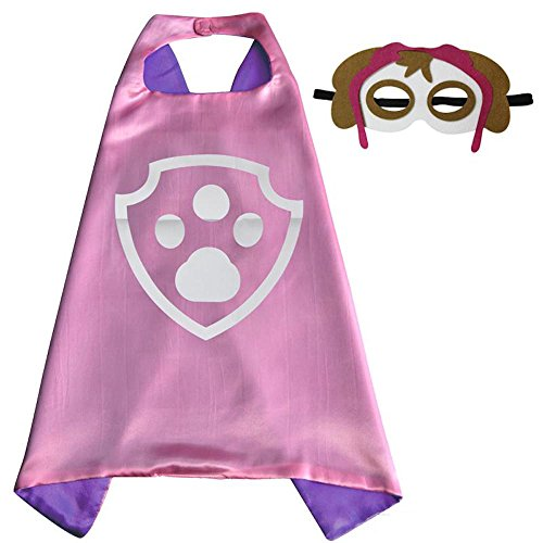 Over 35+ Styles Superhero Halloween Party Cape and Mask Set for Kids (Skye) (Female Marvel Characters Costumes)