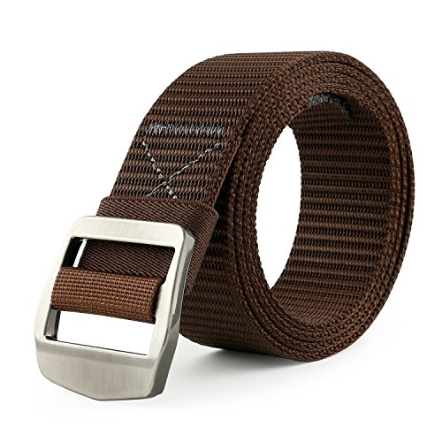 Tactical Heavy Duty Reinforced Nylon Belt for Men Adjustable Military Webbing Belt Strap with Metal Buckle ()