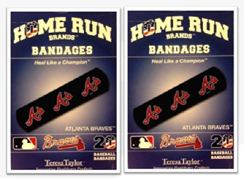 Atlanta Braves Bandages x 2 box (total 40 pcs) - First Braves Cap